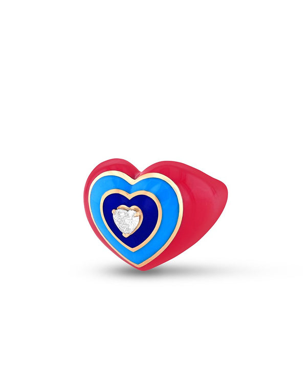 Wonder Heart Pink and Blue Ring