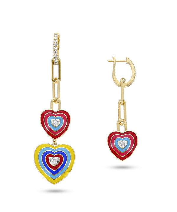 Wonder Heart Red Earrings