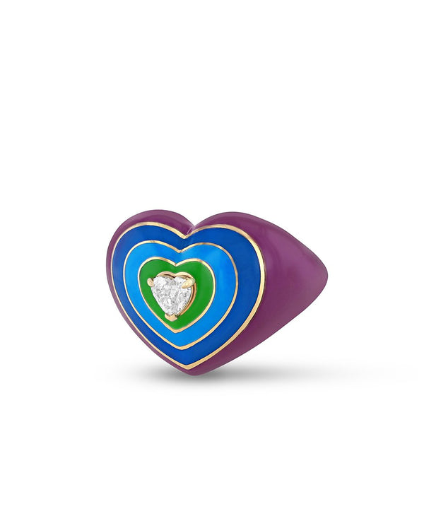 Wonder Heart Violet and Blue Ring