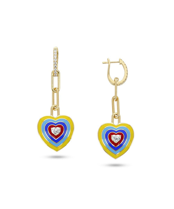 Wonder Heart Yellow Earrings