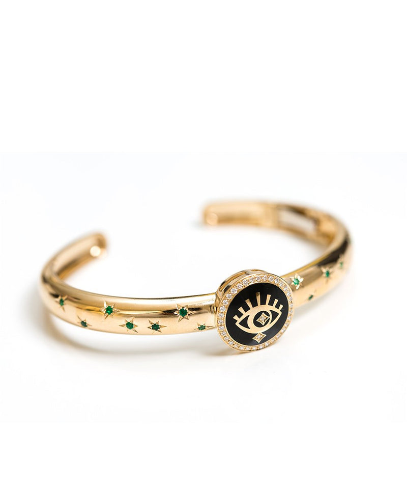 Yellow Gold Moonlight Bangle