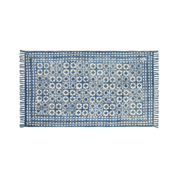 Cotton Block Printed Rug
