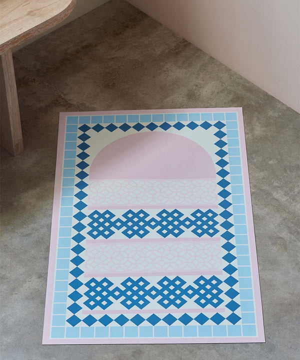 "Sabr ""Dahab"" Blue Compact Prayer Mat"