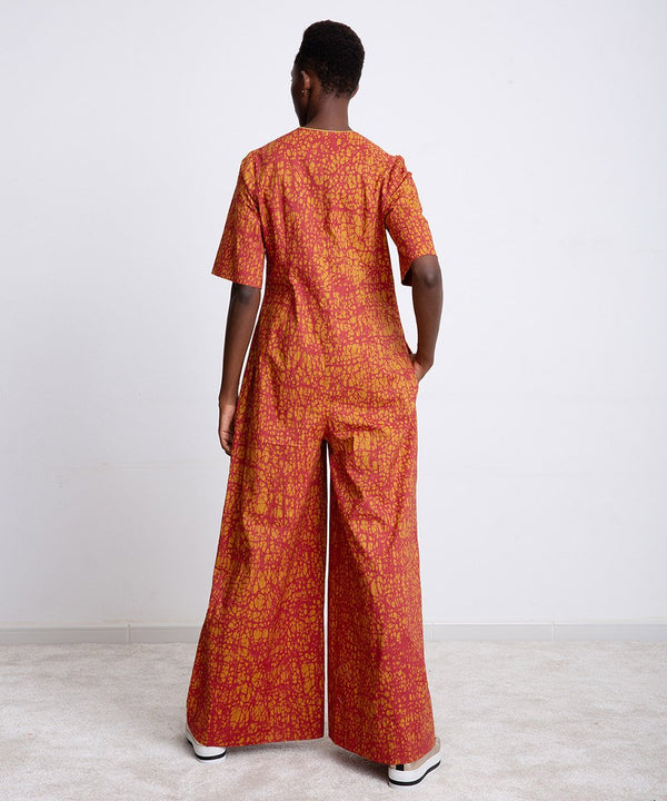 Wood Urban Orange Jumpsuit
