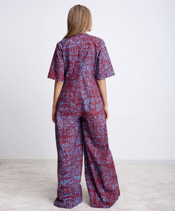 Wood Urban Purple Jumpsuit