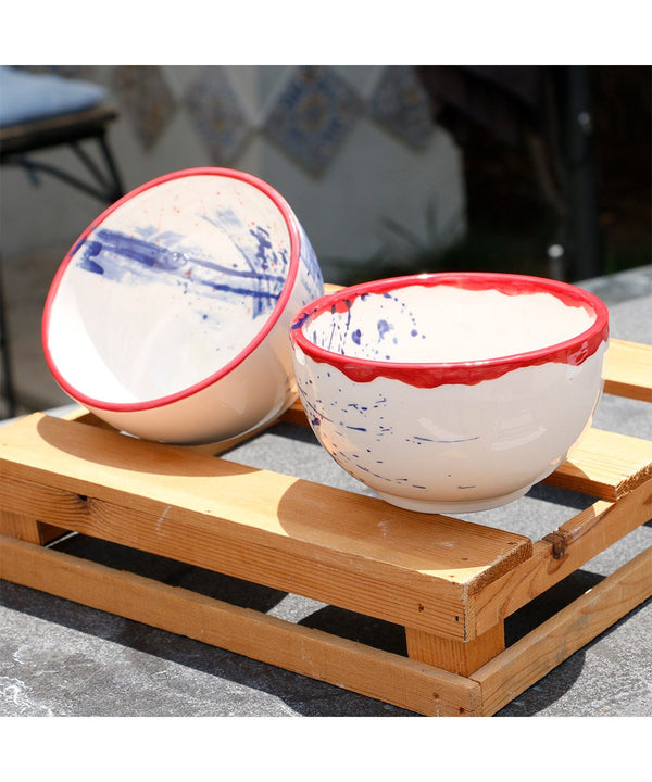 Bowls - Red & Blue