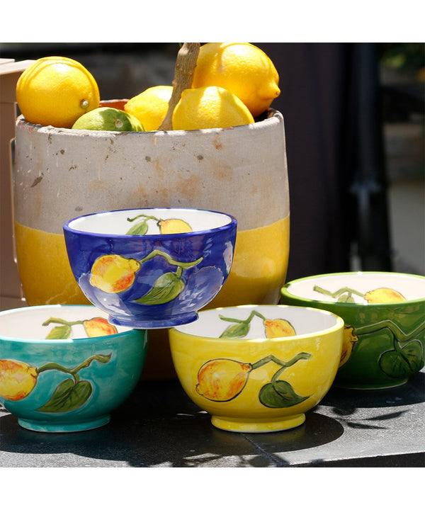 Bowls With Lemons and Leaves