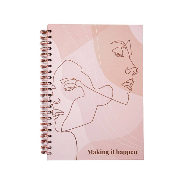 Achievher x Prickly Pear Making it Happen Notebook Hardback A4 - Pink