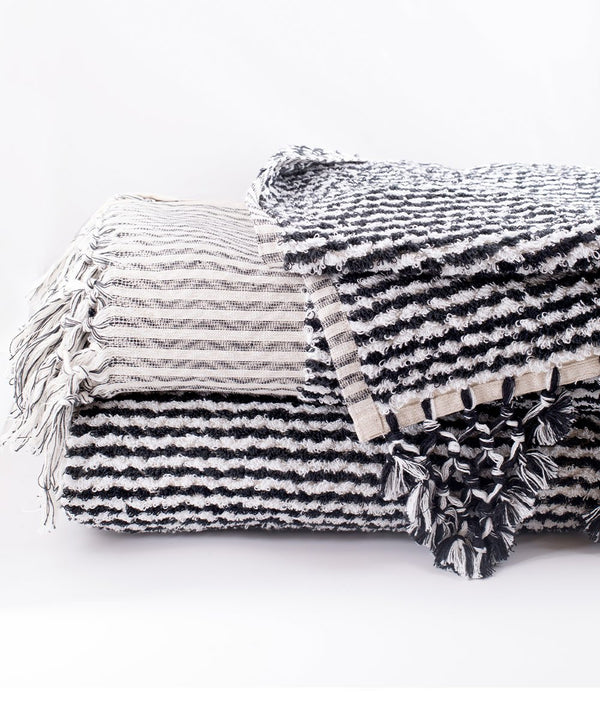 Murad Black and White Towel and Bath Mat