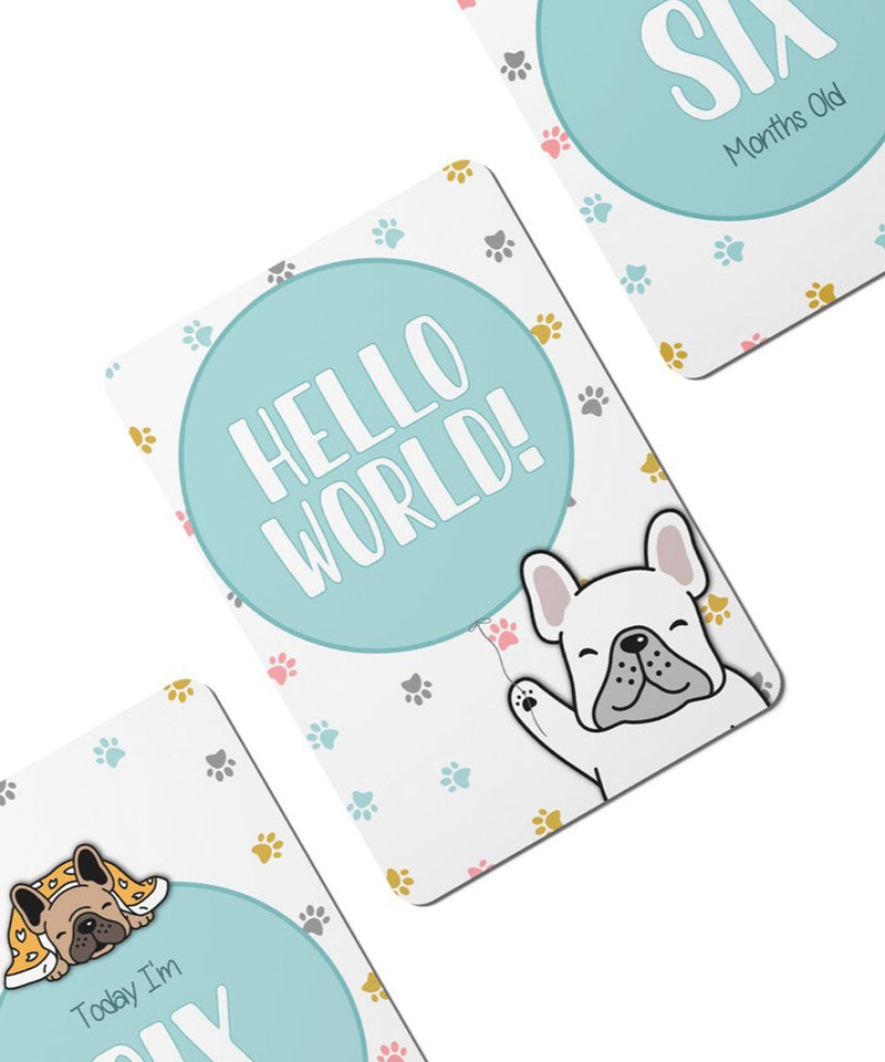 Twinkle Paws Baby Milestone Cards - Set of 25