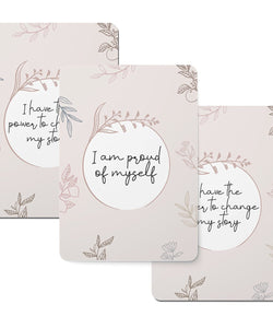 Vintage Floral Pattern Affirmation Cards - Set of 20