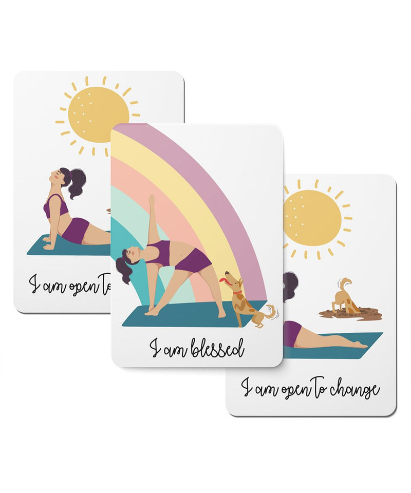 Yoga and the Dog Affirmation Cards - Set of 20