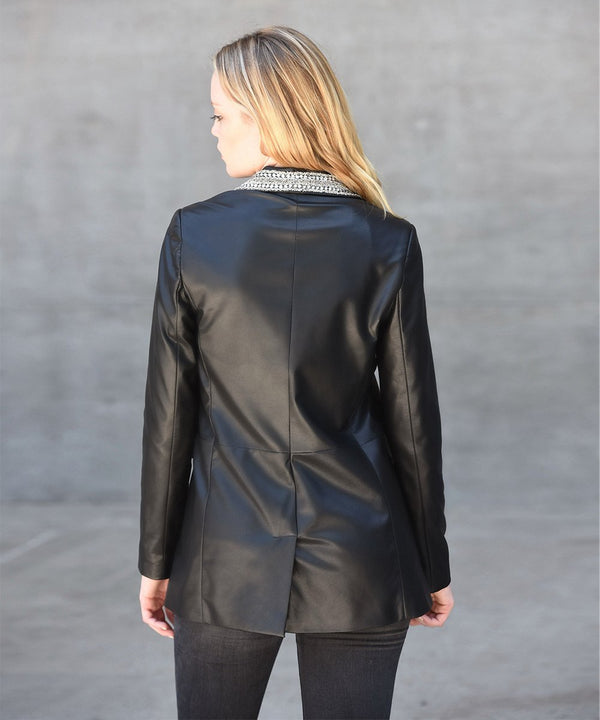 Lennix Leather Blazer
