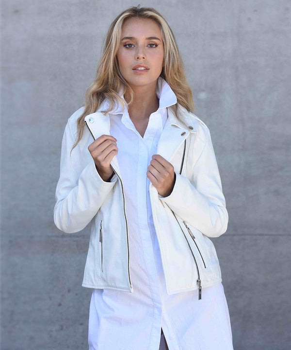 Oaxaca White Leather Jacket