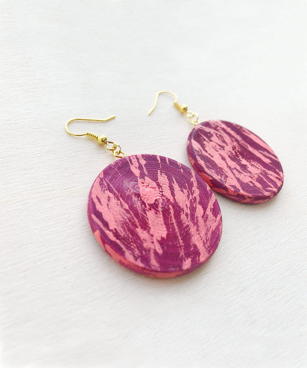 Pink Strokes Earrings