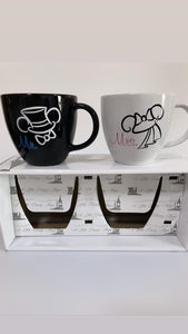 Caneca Mr. & Mrs. Mickey & Minnie