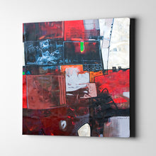 Load image into Gallery viewer, Red and White Squares Abstract