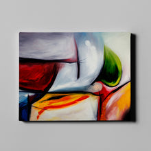 Load image into Gallery viewer, White and Multi Colored Abstract