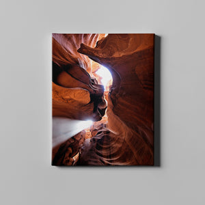 Light Brown Illuminated Canyon