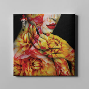 Yellow Red Floral