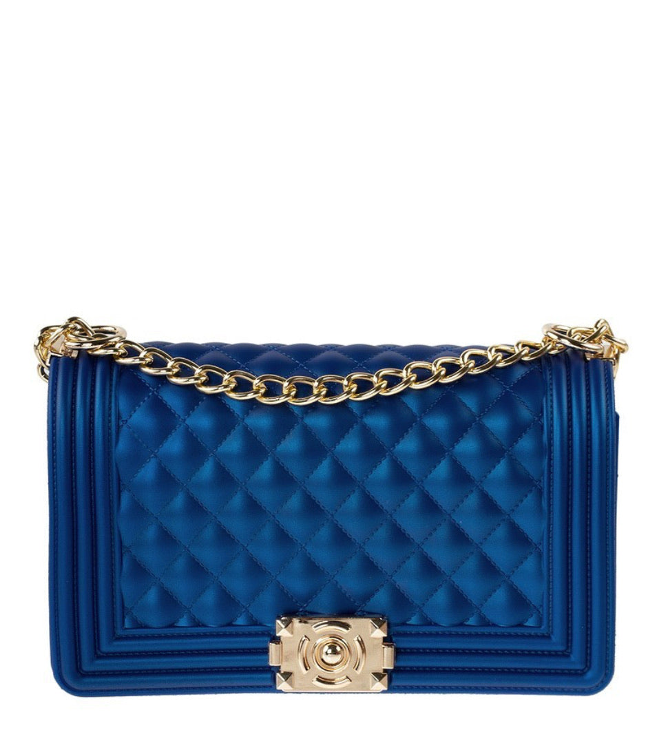 Royal Blue Jelly Handbag