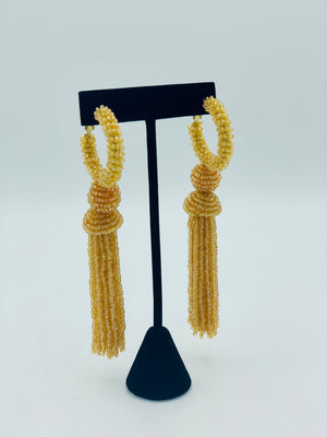 Golden Beaded Earring