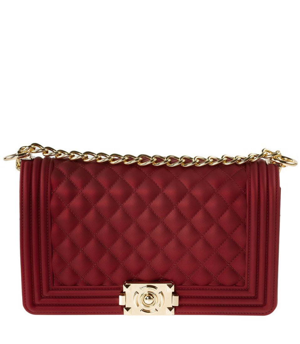 Cherry Red Jelly Handbag