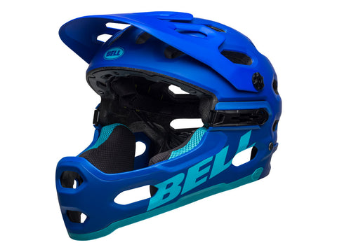 CASCO BELL SUPER 3R 2021 AZUL MATE