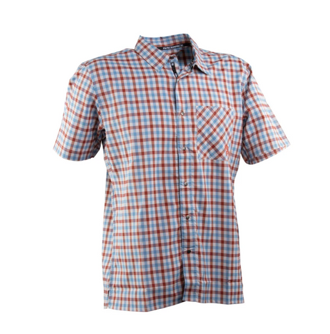 RACE FACE SHOP camisa casual cuadros azul/gris