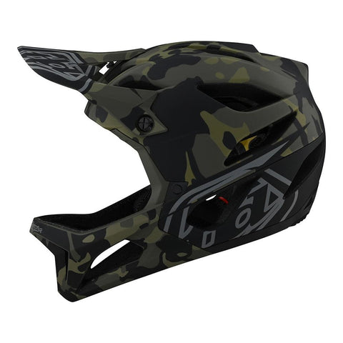 Casco Troy Lee Designs Stage Camo Olive MIPS 2021