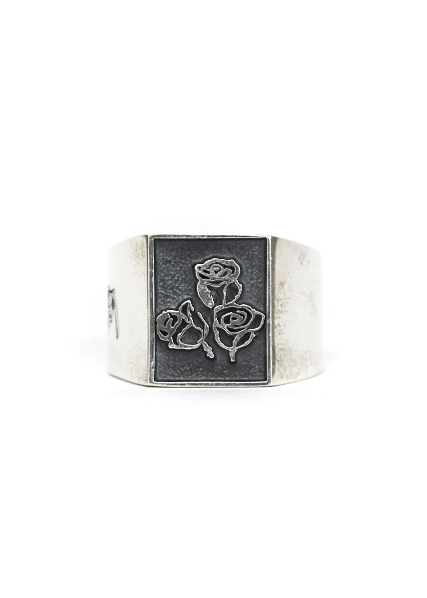 Sketchy Rose Silver Ring