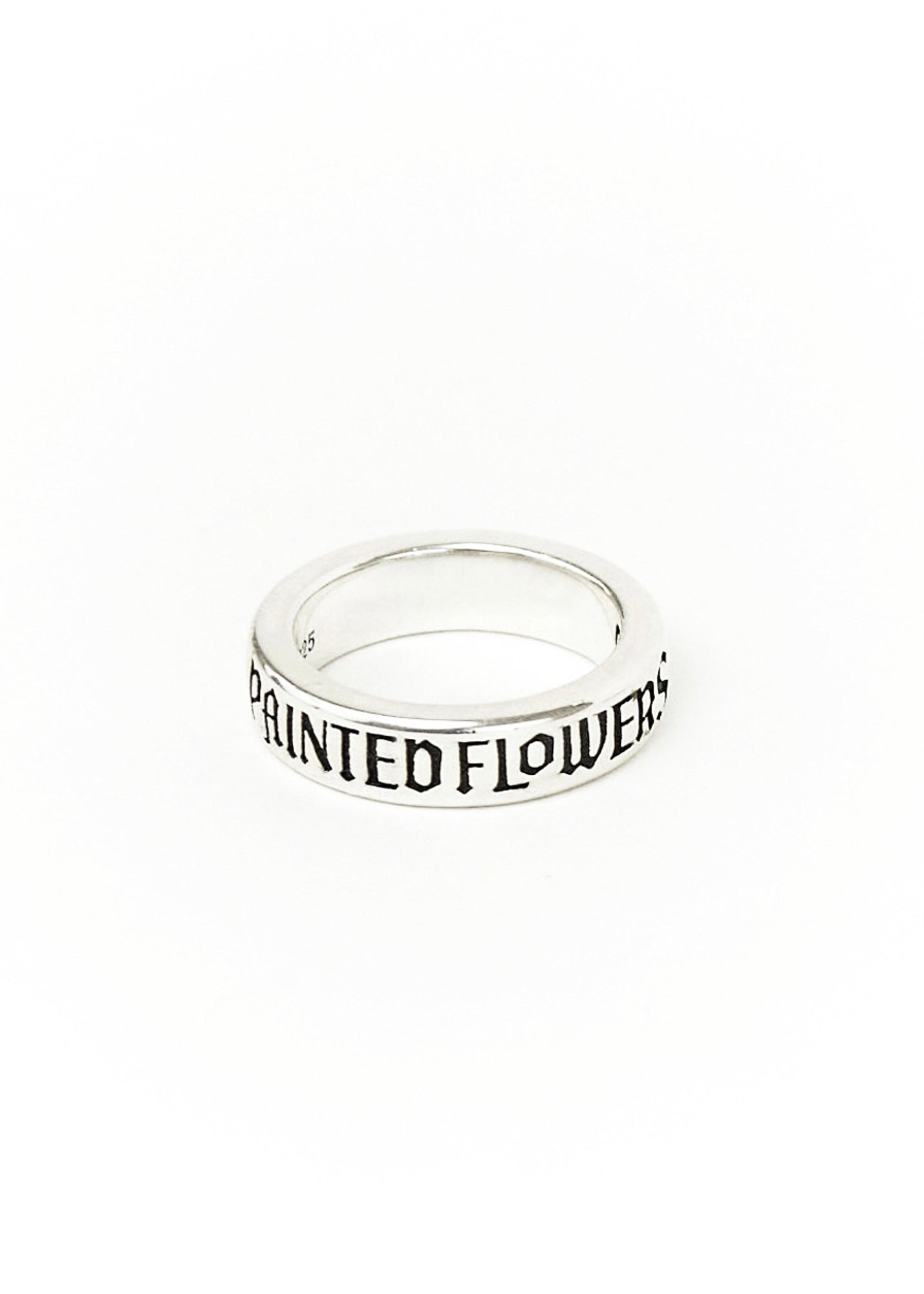 Thin Logo Ring Silver