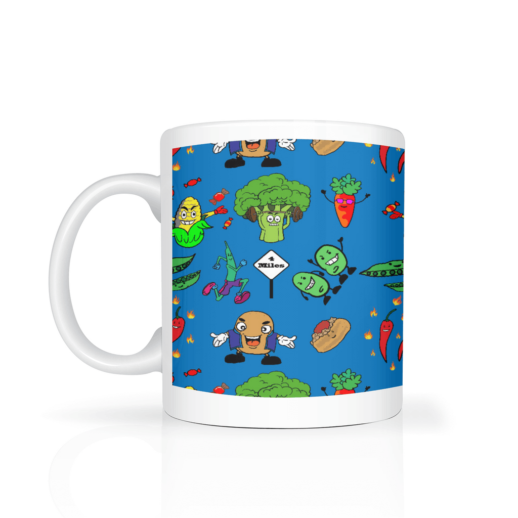 Animated Vegetable Mug - Blue - Fair Dinkum Fashion