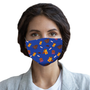 Chocolate Lab Blue  Face Mask - Youth and Adult sizes - Fair Dinkum Fashion