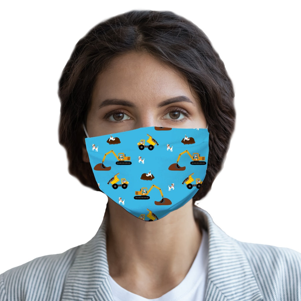 Digger Dogs Blue  Face Mask - Youth and Adult sizes - Fair Dinkum Fashion