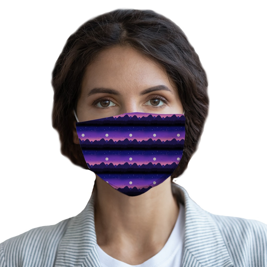 Purple Mountains  Face Mask - Youth and Adult sizes - Fair Dinkum Fashion