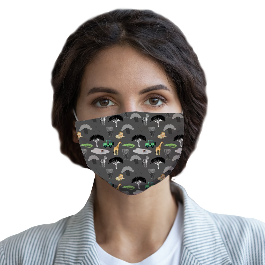 Safari Grey  Face Mask - Youth and Adult sizes - Fair Dinkum Fashion