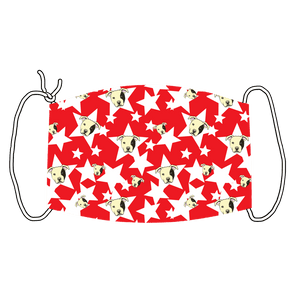 Staffy and Star (Red)  Face Mask - Youth and Adult sizes - Fair Dinkum Fashion