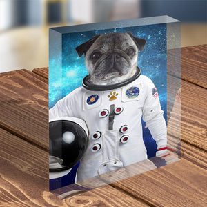 Astronaut - Custom Pet Portrait - Acrylic Photo Display Block - Fair Dinkum Fashion