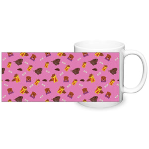 Chocolate Lab Mug - Pink - Fair Dinkum Fashion