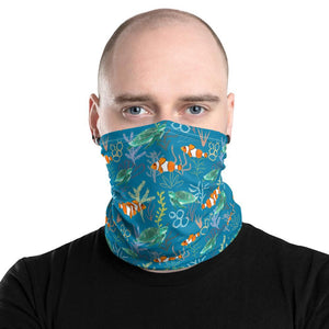 Clownfish and Turtle - Neck Gaiter - Fair Dinkum Fashion