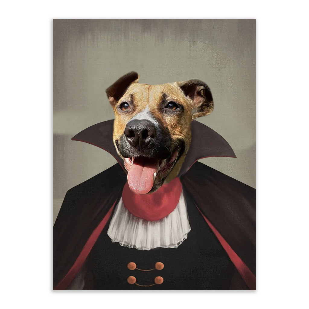 Count Dogula - Custom Pet Portrait - Metal Wall Art - Fair Dinkum Fashion