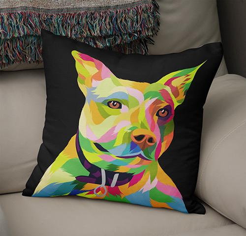 Custom Pop Art Pet   Cushion - Fair Dinkum Fashion