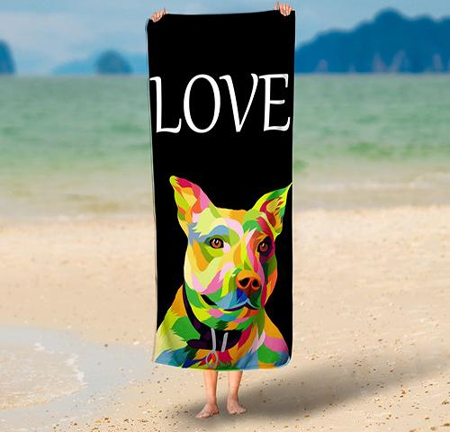 Custom Pop Art Pet   - Towel - Fair Dinkum Fashion