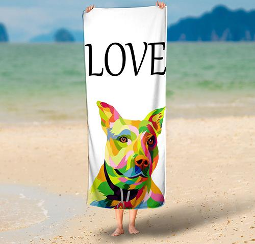 Custom Pop Art Pet   - Towel