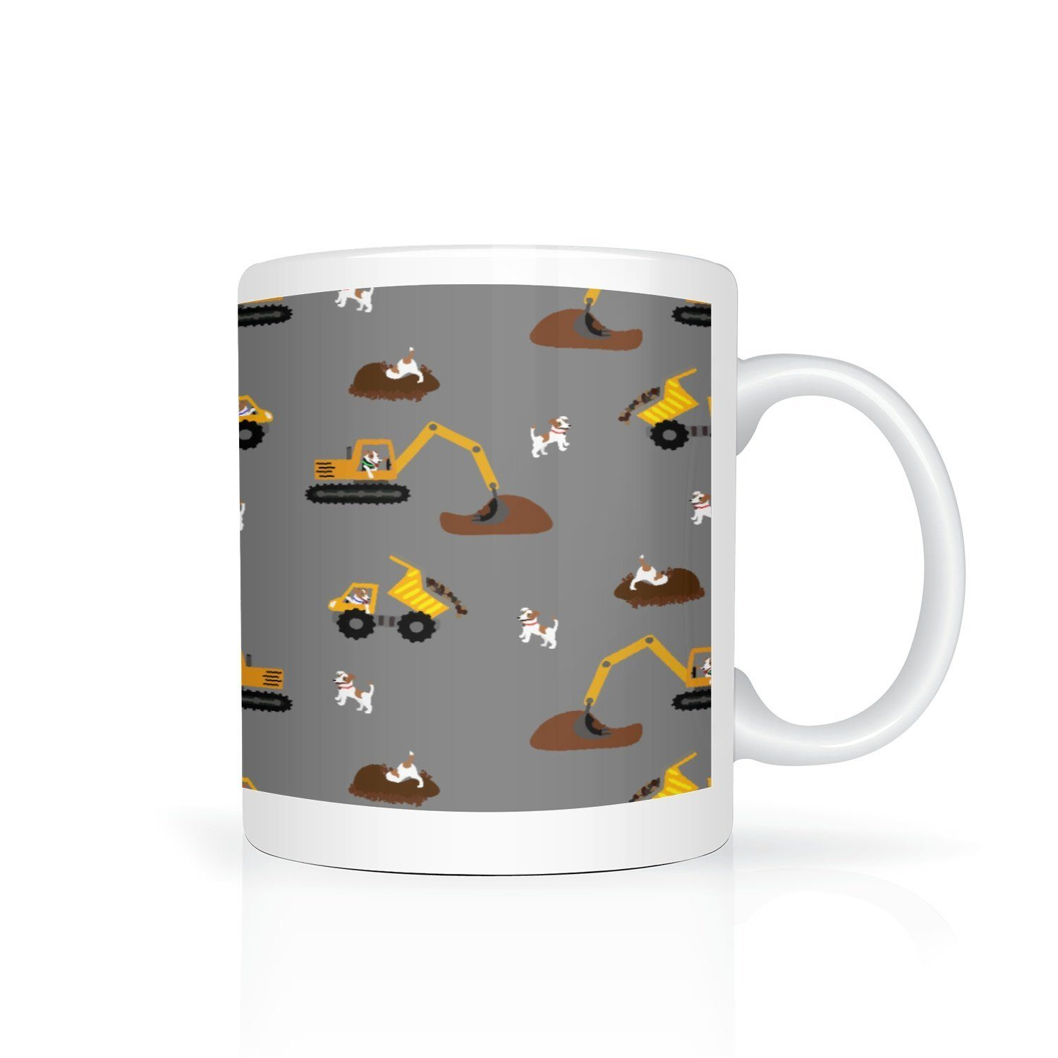 Digger Dogs Mug - Grey - Fair Dinkum Fashion