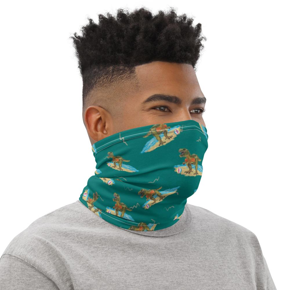 Dino At The Beach - Neck Gaiter - Fair Dinkum Fashion