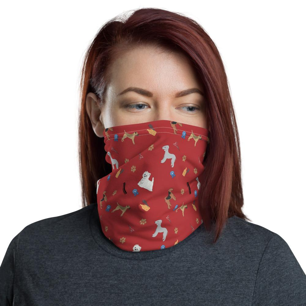 Dog Grooming Breed - Neck Gaiter - Red - Fair Dinkum Fashion