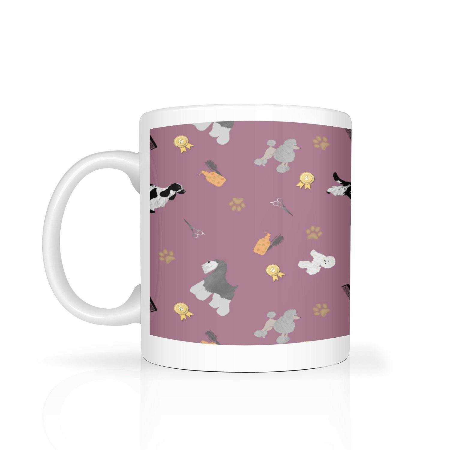 Dog Grooming Design Mug - Purple - Fair Dinkum Fashion