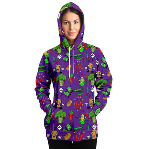 Animated Vegetable Adult Hoodie - Purple - Fair Dinkum Fashion